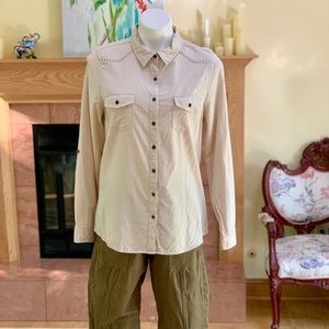 Tantrums Western Style Adjustable Sleeve Shirt L